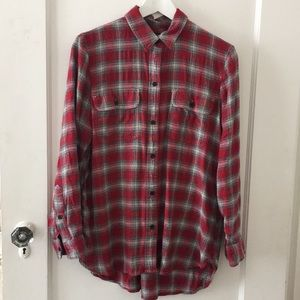 Madewell Red Flannel Shirt Size M